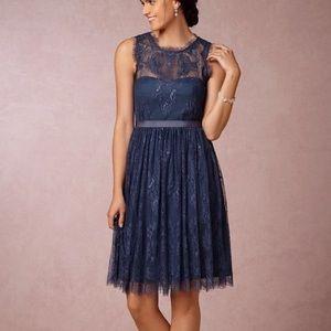 Hitherto Cecilia Navy Dress